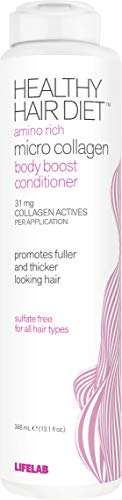 Lifelab Micro Collagen Conditioner Healthy Hair Diet Body Boost Sulfate Free for All Hair Types, 13.1 Fl Oz