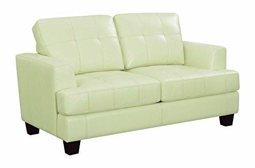 (Coaster Home Furnishings 501699 Living Room Sofa Love Seat Sleeper, Cream/Dark Brown)