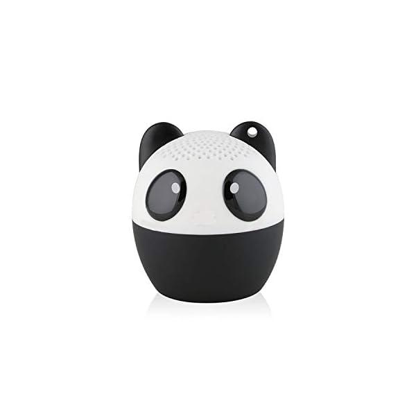 TBS2520 Mini Enceinte Bluetooth sans Fil Mini-Animal Panda - Super Mignon - 3 Watts - Fonctions Kit Main-Libre Téléphone & Selfie - Appli pour Jouer - pour iPhone Samsung Huawei etc & Tablette 1