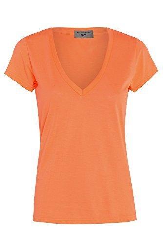 T Femmes Non TAILLE non 14 SHIRT Orange HAUT 8 aZOq4ZfCxw