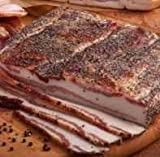 Old-Fashioned Dry Cured, Hickory Smoked Peppered Slab Bacon 4 to 5 Lbs