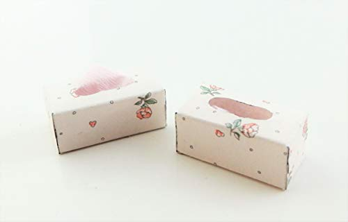 Melody Jane Dollhouse 2 Tissue Boxes Miniature Bedroom Bathroom Accessory