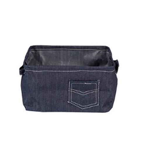 Bag Denim Toy (Laundry Hampers Storage Basket Creative Denim Storage Bag Household Simple Finishing Toy Snacks Debris Bucket Large Capacity (Size : A))