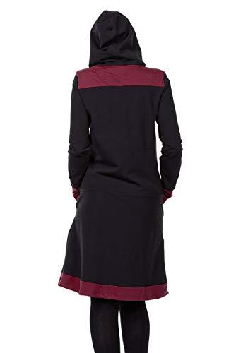 Bordeaux capucha Woodhoods las as peque De de vestido con mujeres 3elfen Onw6fx