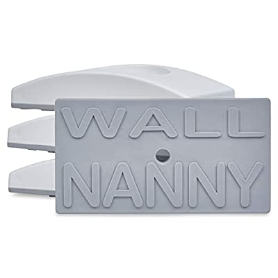 Wall Nanny (4 Pack - Made in USA) Indoor Baby Gate Wall Protector - No Safety on Hazard Bottom Spindles - Small Saver Pad Saves Trim & Paint - Best Dog Pet Childrens Walk Thru Pressure Guard