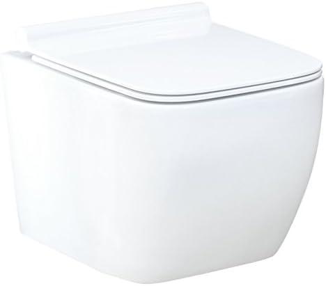 Lavita #99870 Water sospeso in ceramica senza brida e con sottile sedile soft-close
