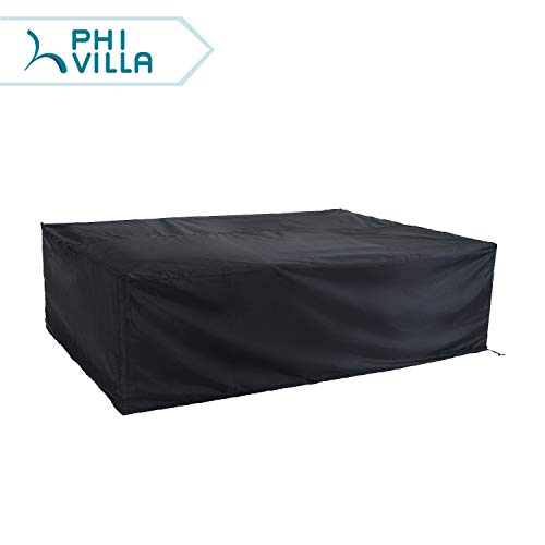 PHI VILLA Waterproof Patio Sofa Covers Extra Large Outdoor Furniture Sectional Couch Cover Fits  ...