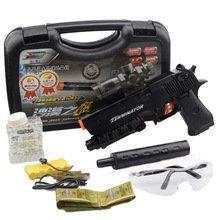 Desert Eagle Electric Repeating Paintball Gun Pistol & Soft Bullet Gun Plastic Toys CS Game Shooting Water Crystal Gun + Goggles