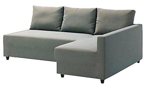 Left Corner Couch (Heavy Duty Cotton Light Gray Friheten Sofa Cover Replacement is Custom Made for Ikea Friheten Sofa Bed with Chaise Corner, Or Sectional Slipcover (Left Arm Longer))