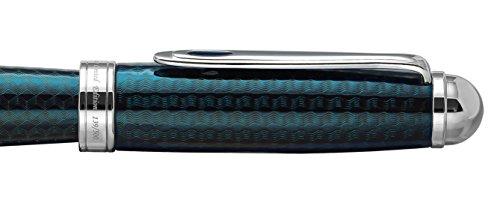 Xezo Freelancer Brass Rollerball Pen, Translucent Lacquer, Diamond-Cut, Blue (Freelancer Blue R) by Xezo (Image #5)