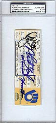 Robin Yount and Family Signed 3000 Hit Ticket Milwaukee Brewers PSA/DNA Authentication Autographed MLB Memorabilia