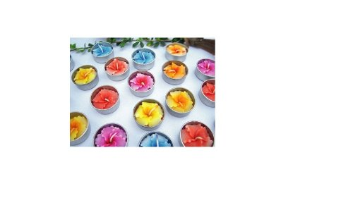 Relax spa shop® Hibiscus Flower Candle in Tea Lights, Floating Candles, Scented Tea Lights, Aromatherapy Relax (Pack of 10 Pcs.) by Relax Spa Shop
