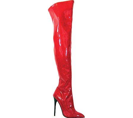 101 Heel Fierce Red Patent US Women's Highest Boot 7 M Stretch PU wFx4C