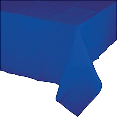 """Creative Converting 723147B Touch of Color Plastic Table Cover, 54 by 108"""", Cobalt by Creative Converting"""