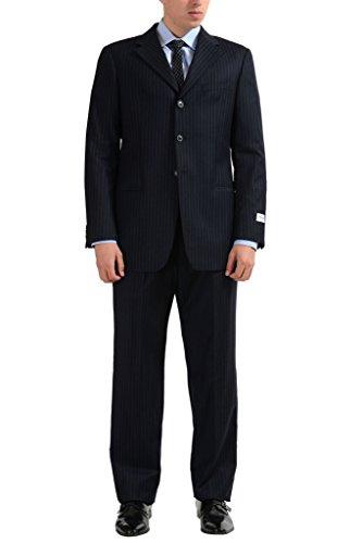 Armani Collezioni Men's Three Button 100% Wool Suit US 40R IT 50R;