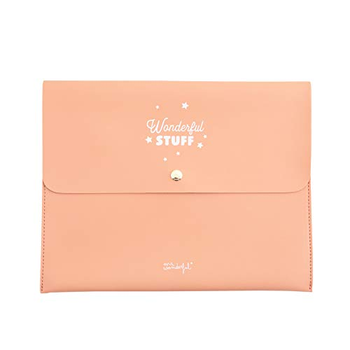 Amazon.com: Mr. Wonderful Stuff Agenda Case, Coral, 28 x ...