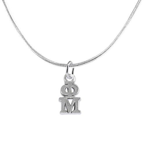 Phi Mu - Licensed Sorority Jewelry Manufacturer, Hypoallergenic Safe Lavalier (Phi Mu Jewelry)