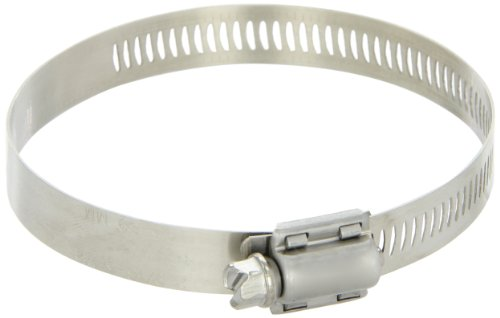 Breeze Power-Seal Stainless Steel Hose Clamp, Worm-Drive, SAE Size 48, 2-9/16