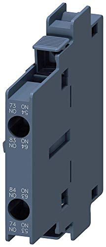 Siemens 3RH19 21-1EA20 Laterally Mountable Auxiliary Switch Block, Screw Connection, 2 Pole, S0 – S12 Size, 2 NO Auxiliary Contacts