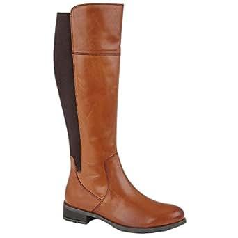 Cipriata Womens/Ladies Silvia Leather Zip High Leg Boot (UK Size: 3 UK) (Tan)