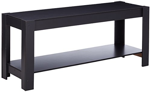 Furinno 12125BK Parsons Entertainment Center Television Stand/Coffee Table, Black (Coffee Table Parson)