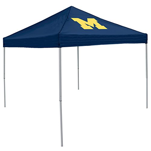 Logo Brands NCAA Michigan Wolverines Unisex Adult Economy Canopy Tailgate Tent, Multicolor, One Size