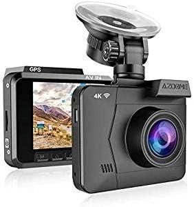 FHD 2160P Car DVR Dual Lens Dash Cam Camera Vehicle 4K GPS WiFi Video Recorder T