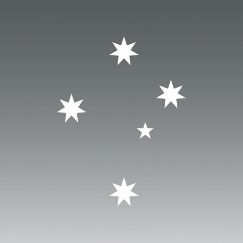 ((2x) Australian Southern Cross - Sticker - Decal - Die Cut)