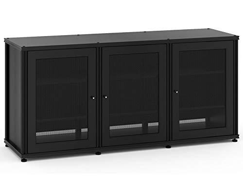 Salamander Designs SB337B/B Synergy Triple A/V Cabinet with Three Doors