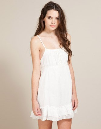 0f7ec5c584 Soul Cal Deluxe Cheesecloth Dress - White - Womens - 18  Amazon.co.uk   Clothing