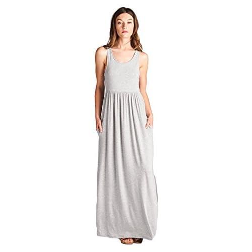 de5c52c3201 chic Vanilla Bay Solid Racerback Pocket Maxi Dress - colomboimpex.com.au