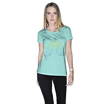 Creo Lungs Animal T-Shirt For Women - M, Green