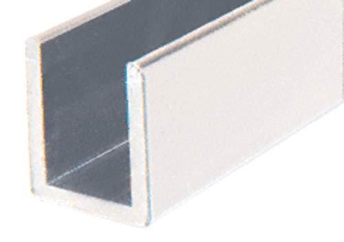 CRL SDCD3812A Satin Anodized Frameless Shower Door Aluminum Deep U-Channel for 3/8