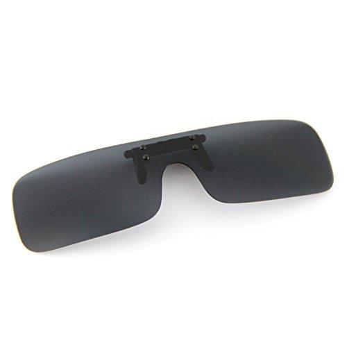 Cyxus (Clip On) deportes polarizado gafas de sol con a prueba de viento espejo lente, Hombres / mujeres sin aros al aire...