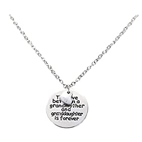 Celltronic the Love Between A Grandmother and Granddaughter Is Forever Necklace Valentine's Day Gift