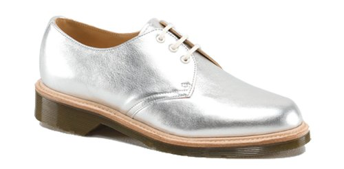 Dr. Martens Womens 1461 Oxford Silver Gs5NSmU