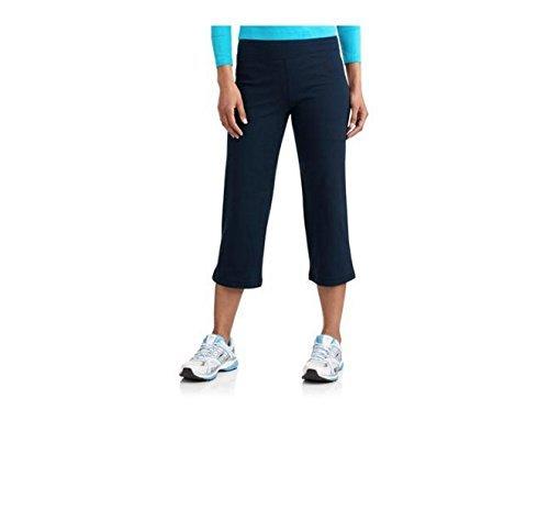 (Danskin Now Womens Plus-Size Dri-More Relaxed Capri Pants Gym Walking Yoga (2X, Navy Blue))