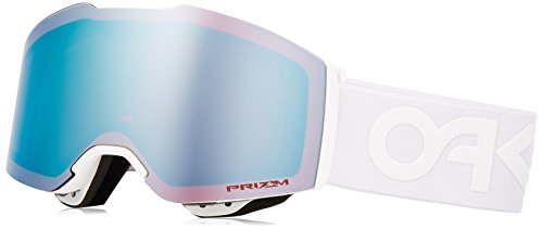 (Oakley Fall Line Snow Goggles, Factory Pilot Whiteout Frame, Prizm Sapphire Iridium Lens, Medium)