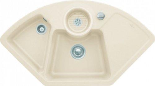 Villeroy & Boch Solo Eck Ivory Keramik-Spüle Eckspüle Küchenspüle Einbau Beige