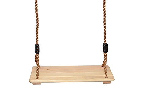 Rubys Creations Wooden Tree Swing for Kids: Hang This Adjustable Childs Wood Swing from Your Favorite Tree Outdoors Or Hang It from The Ceiling in Your Childrens Room Indoors
