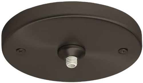 Besa Lighting T21Q-BR Monopint Flat Canopy Glass, Bronze Finish