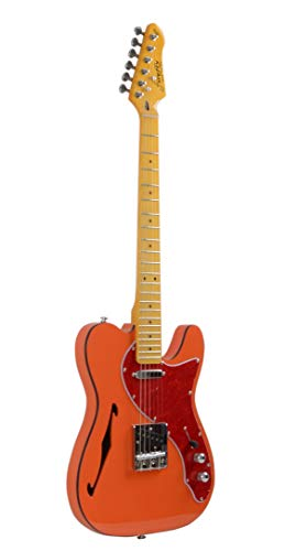 Firefly FFTH Semi-Hollow body Guitar Orange color