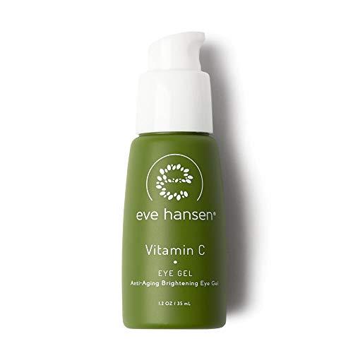 Eve Hansen Dermatologist Tested Vitamin C Eye Gel | Premium, Fragrance Free, Hypoallergenic Skin Brightening Spot Corrector, Eye Puffiness Treatment and Dark Circles Under Eye Treatment | 1.2 oz