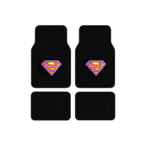 DC+Comics Products : Supergirl DC Comics Logo Front & Rear Seat Car Truck SUV Carpet Floor Mats - 4 PC