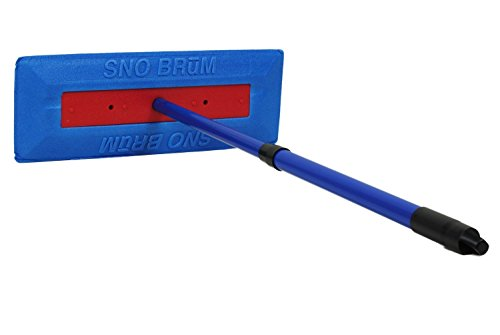 "Sno Brum Original Snow Removal Tool with 17"" to 28"" Compact Telescoping Handle- Remove snow from vehicles, awnings, pool/hot tub covers and more without Scratching"