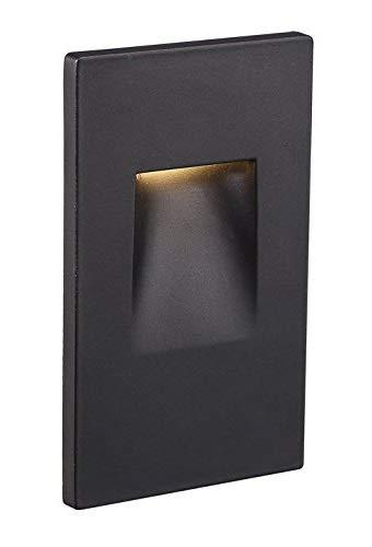 - Ciata Lighting LED Indoor/Outdoor Step Light Stair Light 3 Watt, Warm White Light 3000K (Black Finish, Vertical)