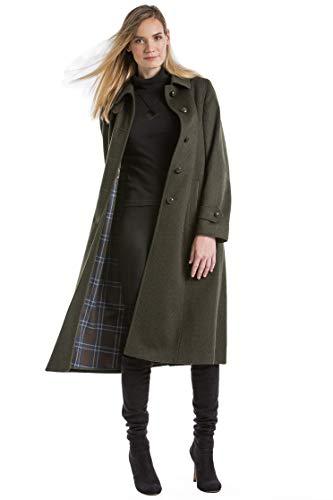 Robert W. Stolz Silvia - Women's Long Austrian Loden Wool Coat with Removable Hood (Wool Loden Green)