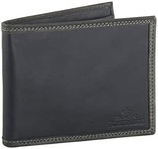 Wallet man EGON FURSTENBERG blue in leather with coin purse VA314
