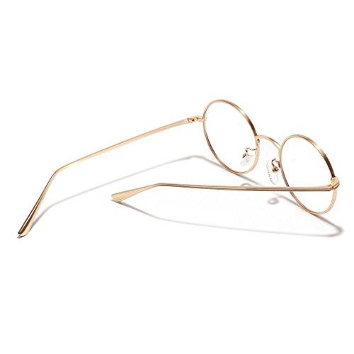 Forma Personalidad Clásica Masculinos Oro Estilo 1x Redonda de Pesca Gafas Decoración Retro Vidrios MagiDeal Viajes Sol Femeninos 0ZBq7