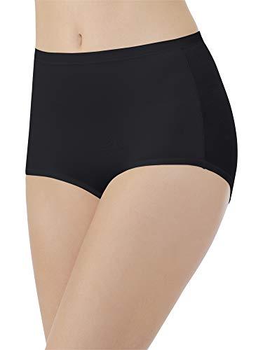 (Vanity Fair Women's Plus Size Body Caress Brief Panty 13138, Midnight Black, X-Large/8)